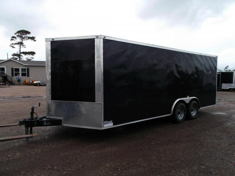 2020 Texas Select 8.5x20 Tandem Axle Cargo Trailer / Car Hauler / 5200# Axles / Heavy Duty Ramp / LEDs