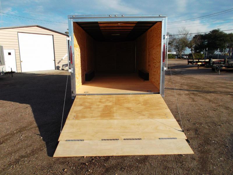 2020 TX Select 8.5x24 Tandem Axle Cargo Trailer / Enclosed Trailer / Car Hauler / 5200# Axles / 7ft Interior / Ramp / LEDs