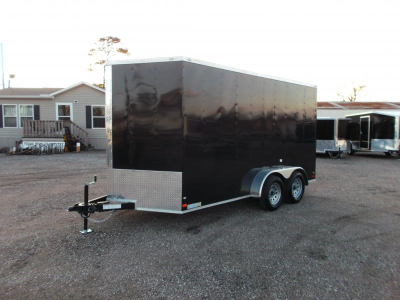 2020 Covered Wagon Trailers 7x14 Tandem Axle Cargo Trailer / Enclosed Trailer / 7ft Interior / Ramp / LEDs