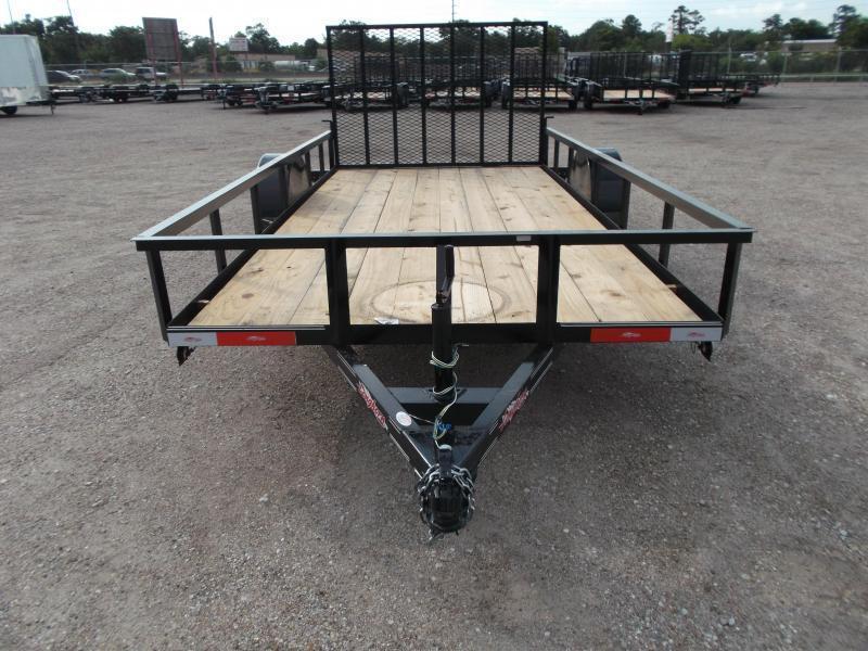 2020 Longhorn Trailers 77x14 Single Axle Utility Trailer w/ 4ft Heavy Duty Ramp Gate