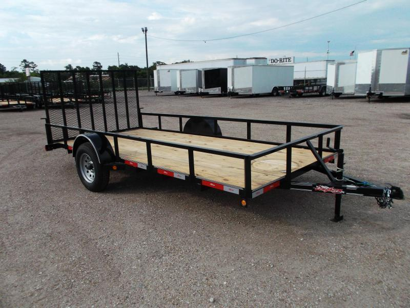2020 Longhorn Trailers 77x14 Single Axle Utility Trailer w/ 4ft Heavy Duty Ramp Gate