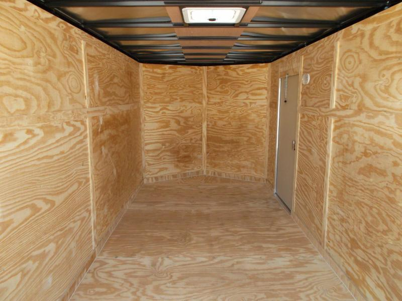 """2020 Covered Wagon Trailers 7x16 Tandem Axle Cargo Trailer / Enclosed Trailer / 6'6"""" Interior / RV Door / LEDs"""
