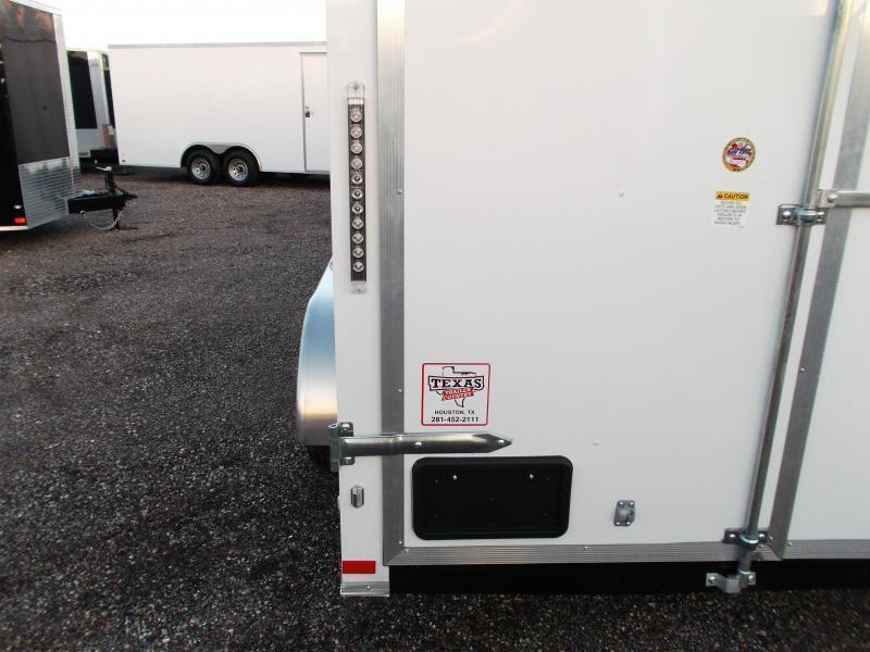2020 Covered Wagon Trailers 7x14 Tandem Axle Cargo Trailer / Enclosed Trailer / Barn Doors / LEDs