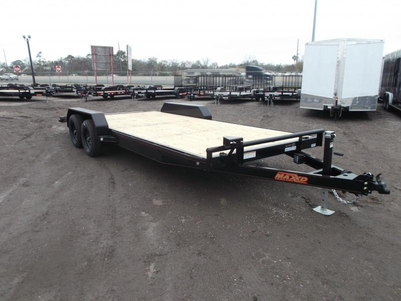 2020 Maxxd 83X20 7K Car Hauler / Racing Trailer / Powder Coated / Treated Wood / 3500# Axles / 4ft Dovetail / LEDs