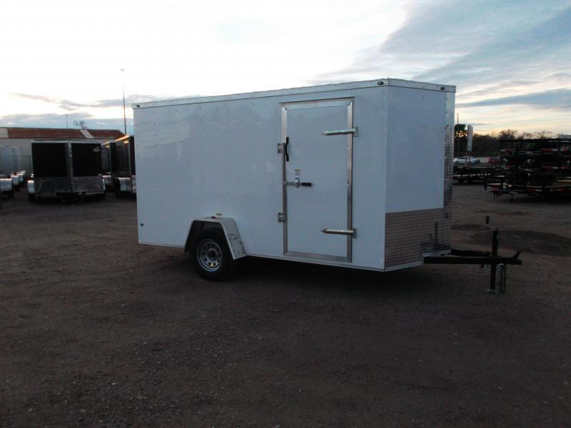 "SPECIAL - 2020 Texas Select 6x12 Single Axle Cargo Trailer / Enclosed Trailer / 6'3"" Interior / Ramp / Side Door / LEDs"