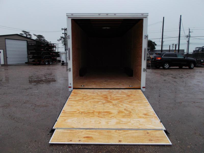 SPECIAL - 2020 Covered Wagon Cargo 8.5x24 Tandem Axle Cargo Trailer / Car Hauler w/ 7ft Interior / 5200# Axles / Heavy Duty Ramp / RV Side Door / LEDs