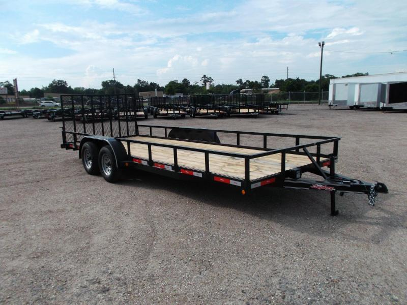 2020 Longhorn Trailers 83x20 Utility Trailer / 4ft Ramp Gate / Electric Brakes