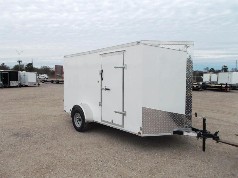 2020 Lark 6x12 Single Axle Cargo Trailer / Enclosed Trailer / Ramp / Side Door / LEDs