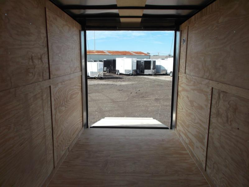 """2020 Covered Wagon Trailers 7x14 Tandem Axle Cargo / Enclosed Trailer / 7'6"""" Interior Height / Ramp / LEDs"""