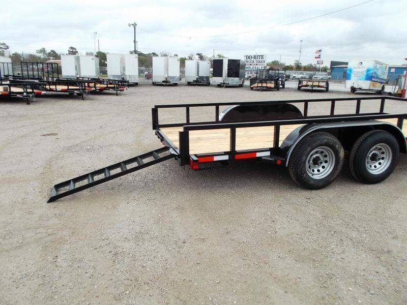 2020 Longhorn Trailers 83x20 Utility Trailer / 5200# Axles / Brakes / 5ft Ramps