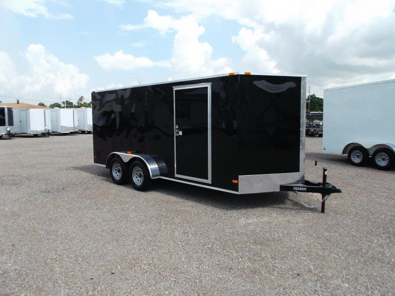 SUPER SPECIAL - 2020 Covered Wagon Trailers 7x16 Tandem Axle Cargo Trailer / Enclosed Trailer / Ramp / RV Side Door