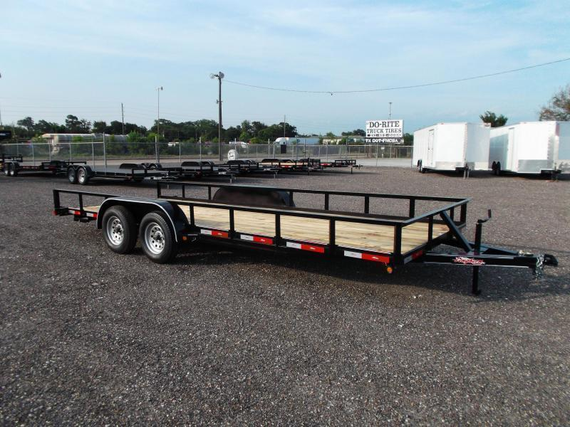 2020 Longhorn Trailers 83x18 Utility Trailer w/ 5ft Slide Out Ramps / Electric Brakes