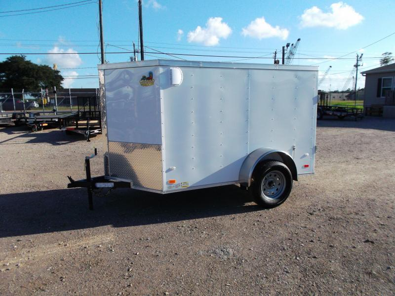 SPECIAL - 2020 Covered Wagon Trailers 5x8 Single Axle Cargo Trailer / Enclosed Trailer / Barn Doors / LEDs