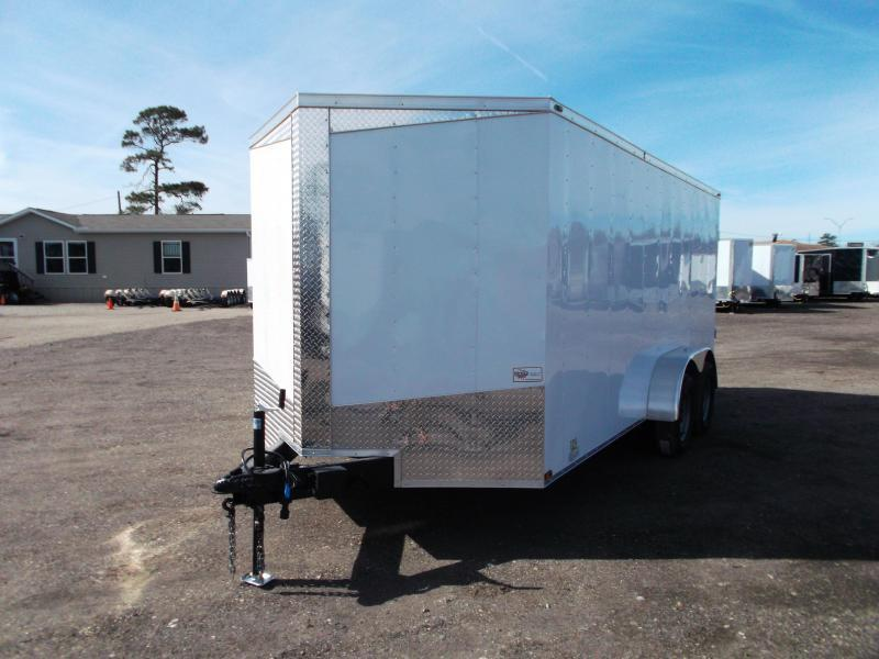 SPECIAL - 2019 Lark 7x16 Tandem Axle Cargo Trailer / Enclosed Trailer / Barn Doors / LEDs / 5 yr Warranty