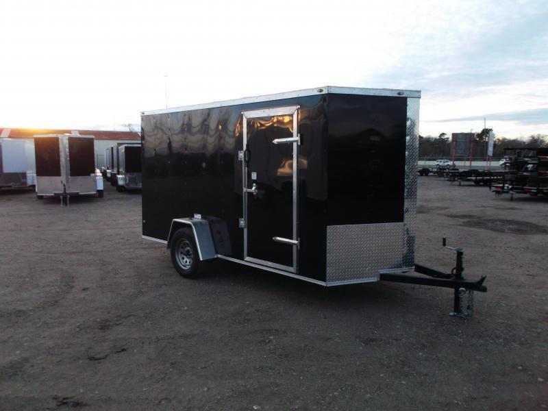 "2020 Texas Select 6x12 Single Axle Cargo Trailer / Enclosed Trailer / 6'3"" Interior / Ramp / Side Door / LEDs"