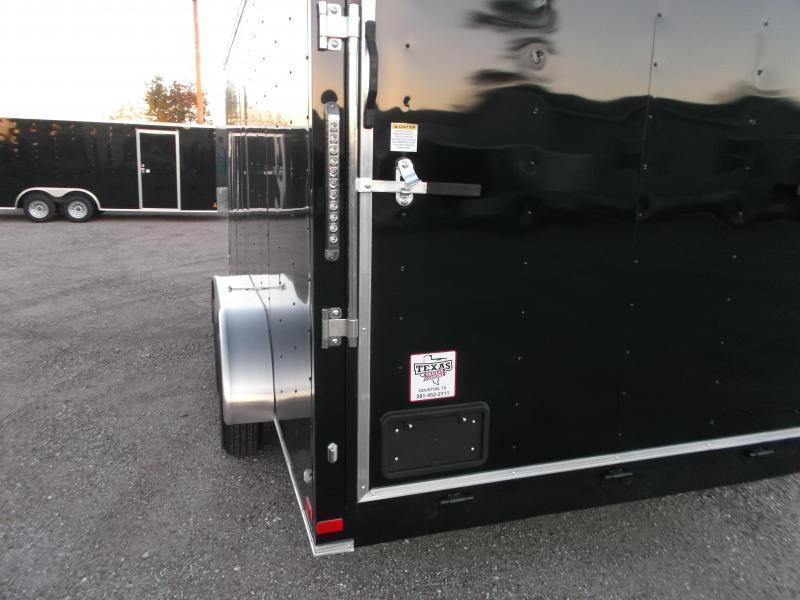 2020 Covered Wagon Trailers 7x16 Tandem Axle Cargo Trailer / Enclosed Trailer / Ramp / RV Side Door / LEDs