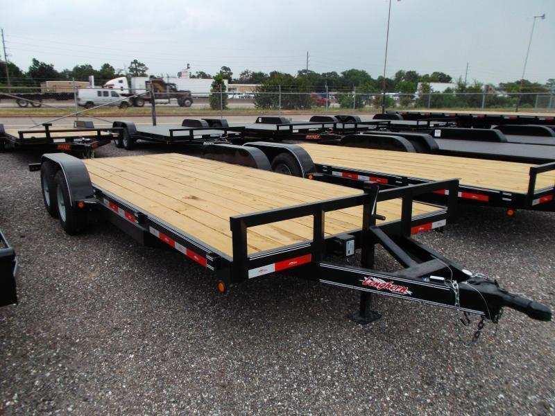 2020 Longhorn Trailers 20ft Tandem Axle 10K Car Hauler / Racing Trailer / Flat Deck / 5200# Axles / 7K Jack / 2ft Dovetail / 5ft Ramps