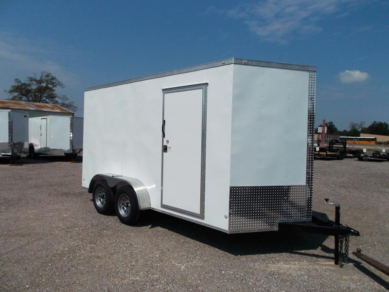 2020 Covered Wagon Trailers 7x14 Tandem Axle Cargo / Enclosed Trailer / 7ft Interior / Ramp / LEDs