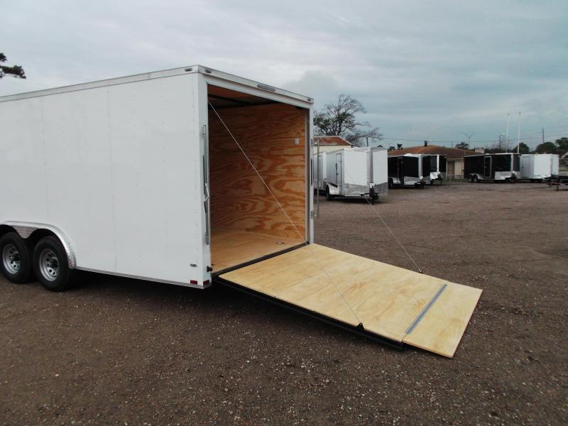 2020 Lark 8.5x24 Tandem Axle Cargo Trailer / Enclosed Trailer / Car Hauler / 5200# Axles / Heavy Duty Ramp / LEDs