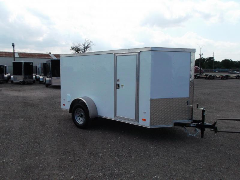 2020 Covered Wagon 5x10 Single Axle Cargo Trailer / Enclosed Trailer / Double Rear Doors / RV Side Door / LEDs