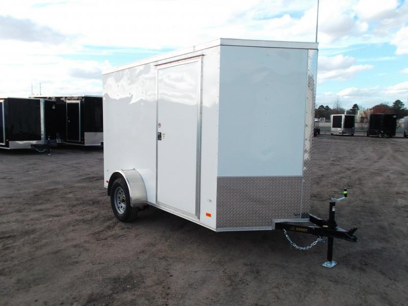 "SPECIAL - 2020 Covered Wagon Trailers 6x10 Single Axle Cargo Trailer / Enclosed Trailer / Ramp / 6'3"" Interior / RV Side Door / LEDs"
