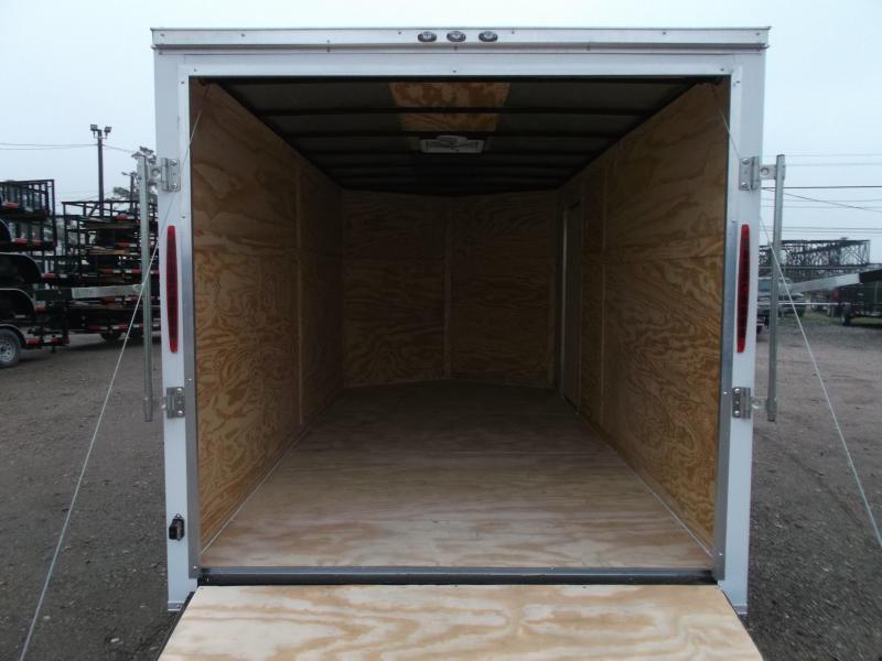 SUPER SPECIAL - 2019 Texas Select 7x14 Tandem Axle Cargo Trailer / Enclosed Trailer / Ramp / 7ft Interior / Side Door / LEDs
