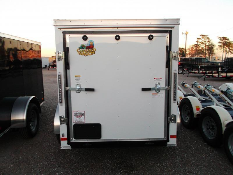 SPECIAL - 2019 Covered Wagon Trailers 5x8 Single Axle Cargo Trailer / Enclosed Trailer / Ramp / RV Side Door / LEDs