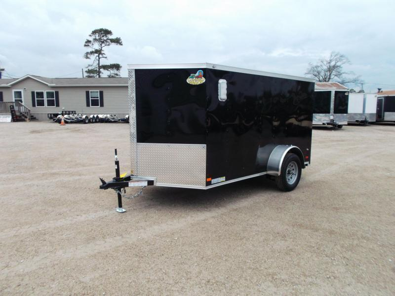 2020 Covered Wagon Trailers 6x10 Low Profile Motorcycle Trailer / Cargo Trailer / Ramp / RV Side Door / LEDs / Rear Stabilizers
