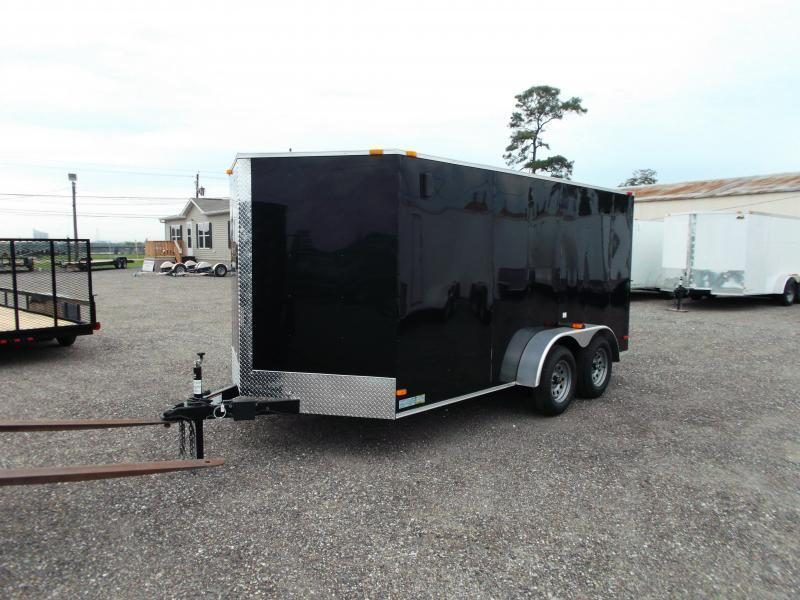 2020 Covered Wagon Trailers 7x14 Tandem Axle Cargo Trailer / Enclosed Trailer / Ramp / RV Side Door