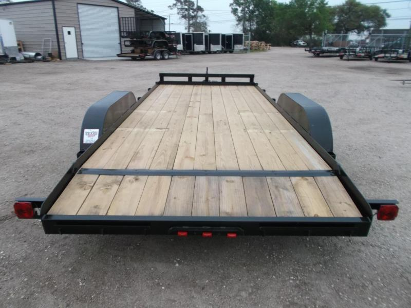 2020 Longhorn Trailers 18ft 7K Car Hauler Trailer / Race Car Trailer / 2ft Dovetail / 5ft Ramps / Brakes