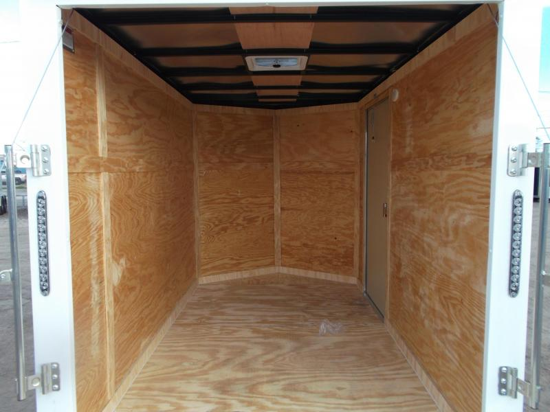 """SPECIAL - 2020 Covered Wagon Trailers 6x10 Single Axle Cargo Trailer / Enclosed Trailer / Ramp / 6'6"""" Interior / RV Side Door / LEDs"""