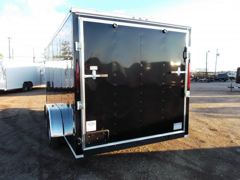 2020 Texas Select 7x16 Tandem Axle Cargo Trailer / Enclosed Trailer / Ramp / 7ft Interior Height / LEDs