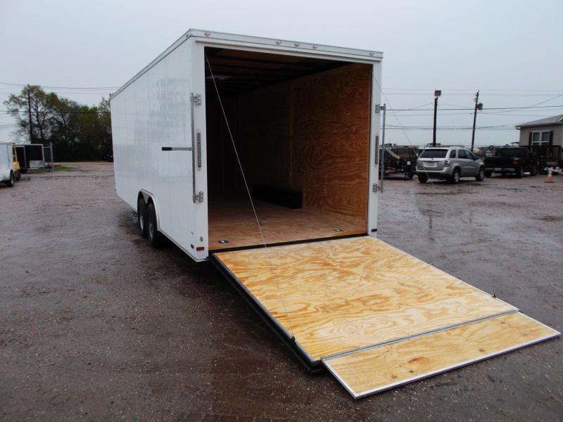 "SUPER SPECIAL - 2019 Covered Wagon Cargo 8.5x24 Tandem Axle Cargo Trailer / Car Hauler w/ 7'6"" Interior / 5200# Axles / Heavy Duty Ramp / RV Side Door / LEDs"