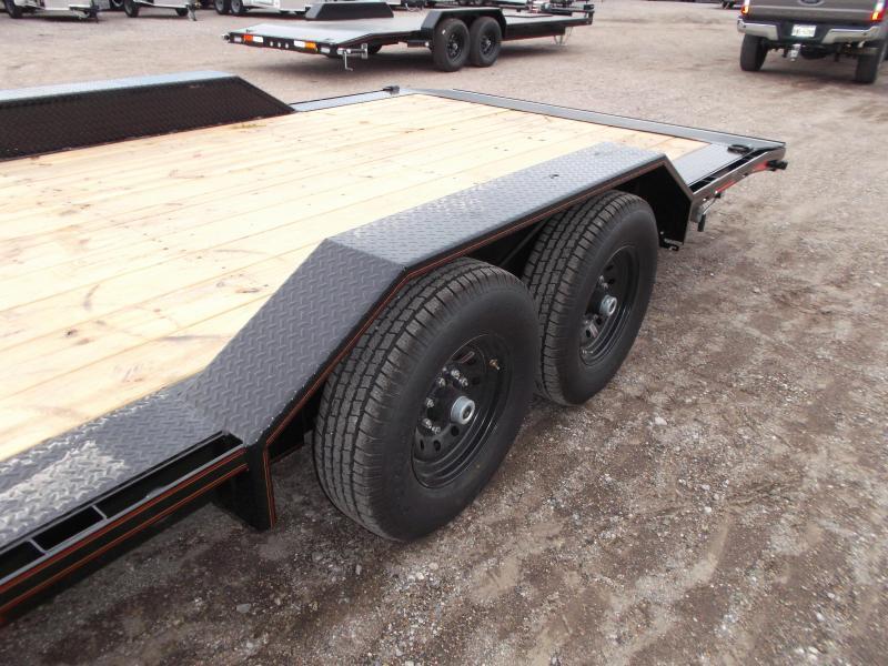 2020 Maxxd 102x24 14K Car Hauler / Flatbed Trailer / Equipment Hauler / Powder Coated / 7K Axles / Drive Over Fenders