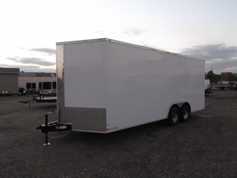 SPECIAL - 2020 Covered Wagon Trailers 8.5x20 Tandem Axle Cargo / Enclosed Trailer / 7ft Interior Height / 5200# Axles / Ramp / RV Side Door / LEDs