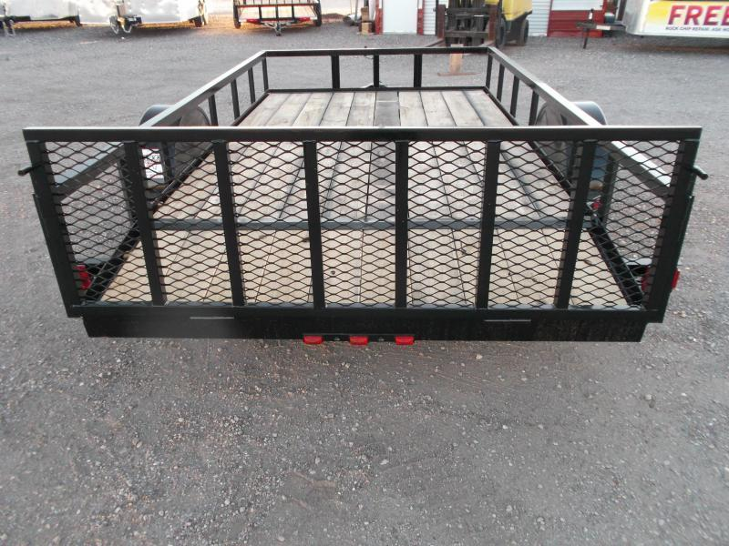 2020 Longhorn Trailers 77x12 Single Axle Utility Trailer / 2ft Dovetail / 2ft Ramp Gate