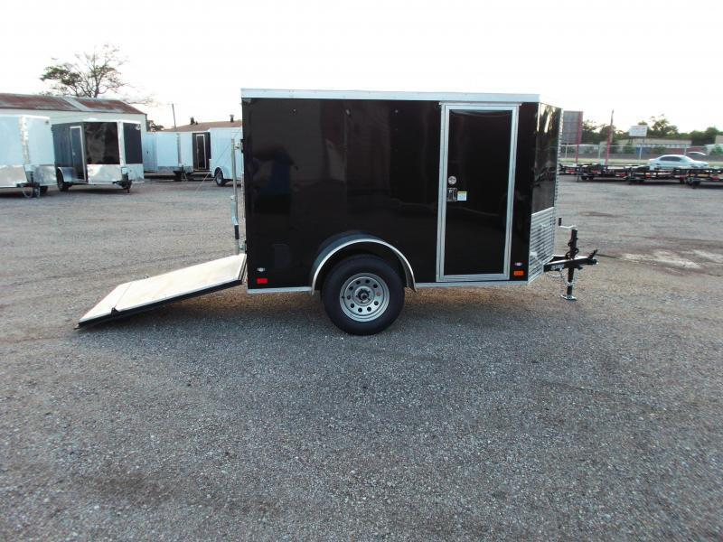 2020 Covered Wagon Trailers 5x8 Single Axle Cargo / Enclosed Trailer / Ramp / RV Side Door / LEDs