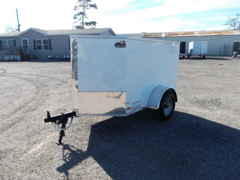2020 Covered Wagon Trailers 4x6 Single Axle Cargo Trailer / Enclosed Trailer / LEDs