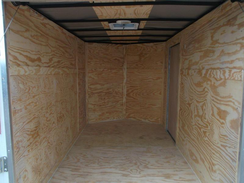 "2020 Texas Select 6x10 Single Axle Cargo Trailer / Enclosed Trailer / 6'3"" Interior / Ramp / Side Door / LEDs"