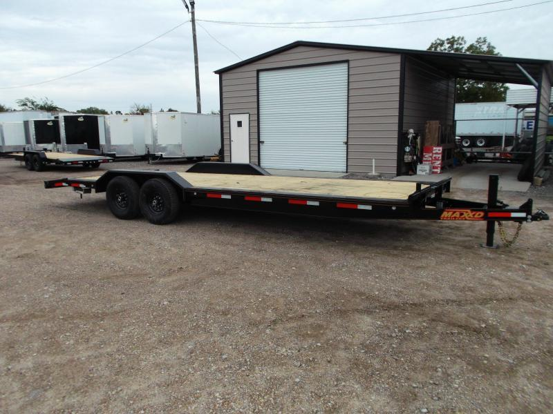 2020 Maxxd 102x24 14K Car Hauler / Flatbed Trailer / Equipment Hauler / Powder Coated / 7K Axles / Drive Over Fenders