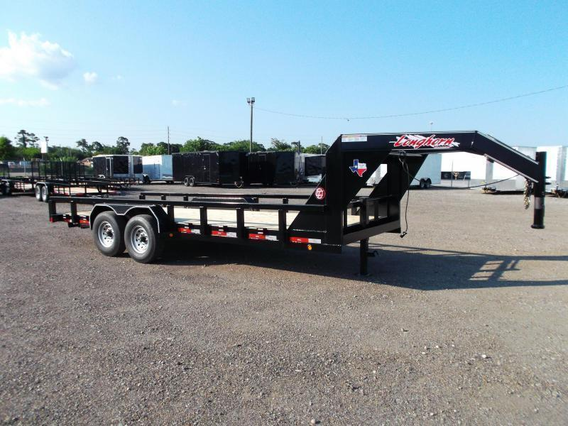 "2020 Longhorn Trailers 83x20 Gooseneck Utility Trailer w/ 7000# Axles / 3"" Square Tubing / 5ft Ramps"