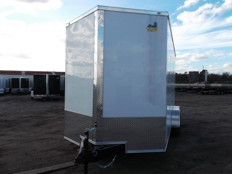 """2020 Covered Wagon Trailers 7x16 Tandem Axle Cargo / Enclosed Trailer / 7'6"""" Interior Height / Ramp / LEDs"""