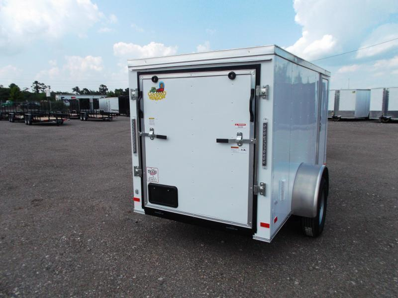 SPECIAL - 2019 Covered Wagon 5x10 Single Axle Cargo Trailer / Enclosed Trailer / Ramp / RV Side Door / LEDs / BLACK