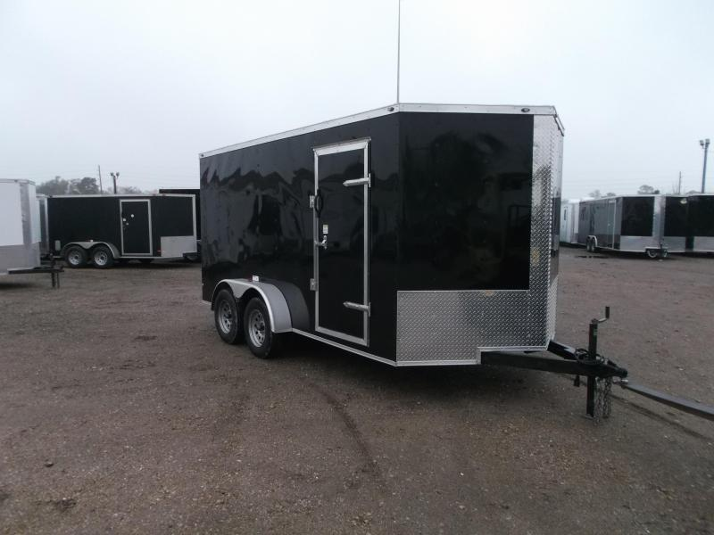 "2020 Texas Select 7x14 Tandem Axle Cargo Trailer / Enclosed Trailer / Ramp / 6'6"" Interior / Side Door / LEDs"