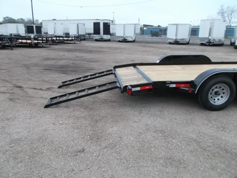 2020 Longhorn Trailers 18ft 7K Car Hauler Trailer / Race Car Trailer / 2ft Dovetail / 5ft Ramps / Brakes