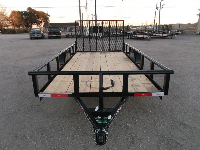 2020 Longhorn Trailers 77x14 Single Axle Utility Trailer / Pipetop / 4ft Heavy Duty Ramp Gate