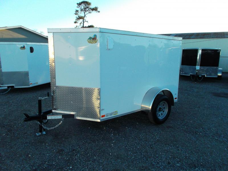 SPECIAL - 2020 Covered Wagon Trailers 5x8 Single Axle Cargo Trailer / Enclosed Trailer / Swing Door / LEDs