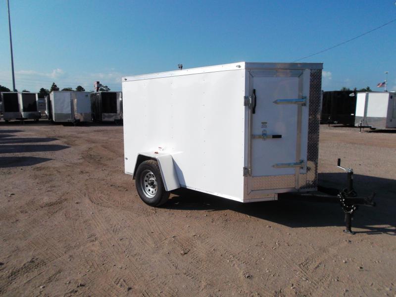 SPECIAL - 2019 Texas Select 5x8 Single Axle Cargo Trailer / Enclosed Trailer / Ramp / Vnose Door / LEDs