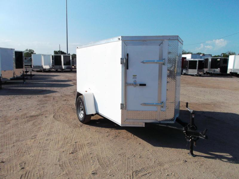SPECIAL - 2019 Texas Select 5x8 Single Axle Cargo Trailer / Enclosed Trailer / Ramp / Vnose Door / LEDs