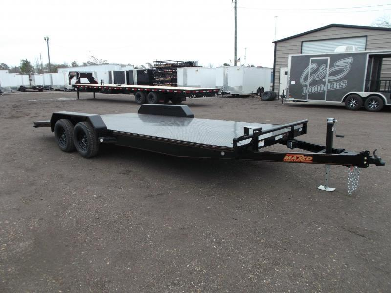 2020 Maxxd 83X20 7K Steel Deck Car Hauler / Racing Trailer / Powder Coated / Steel Deck / 3500# Axles / 4ft Dovetail / LEDs